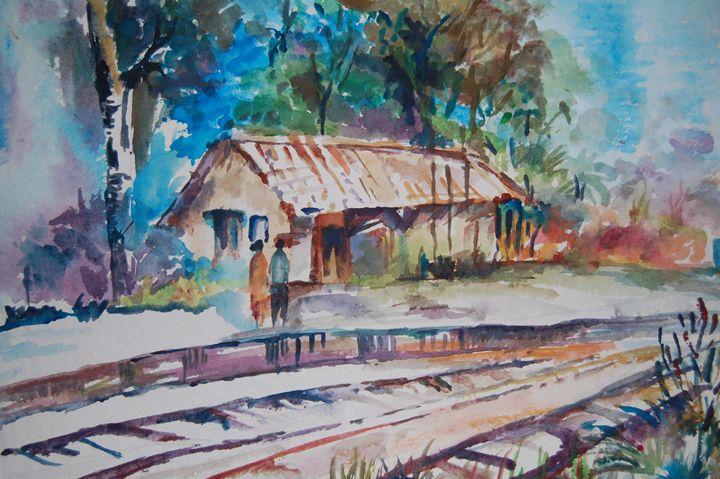 Rural Rail station - My creations