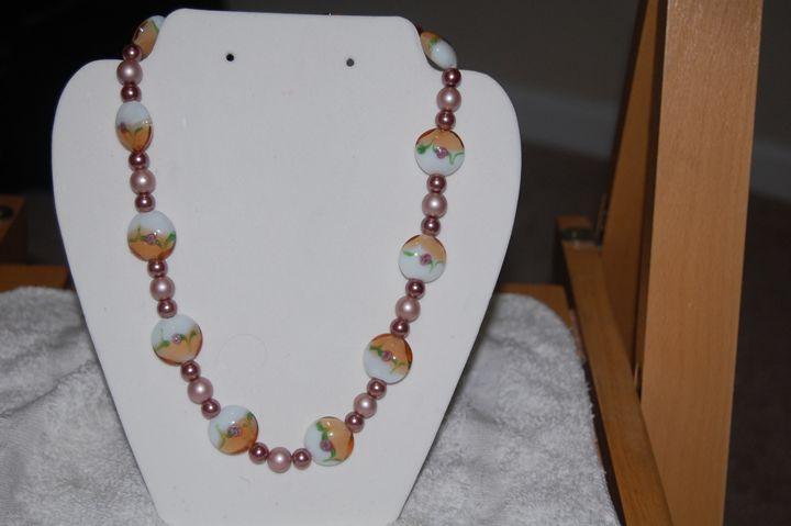 Acrylic beaded neckleas - My creations
