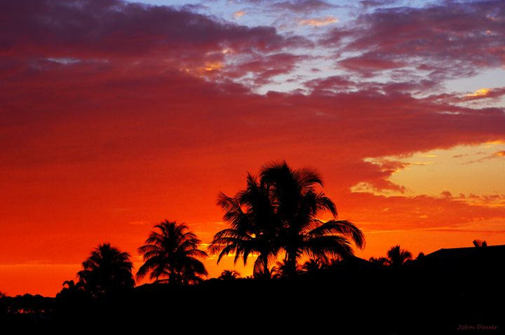 Hawaiian Sunset II - John Dauer Photography