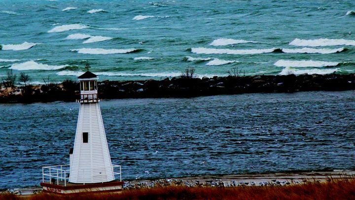 Lighthouse on Lake Michigan - Paul Szakacs
