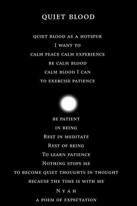 quiet blood - Nyah