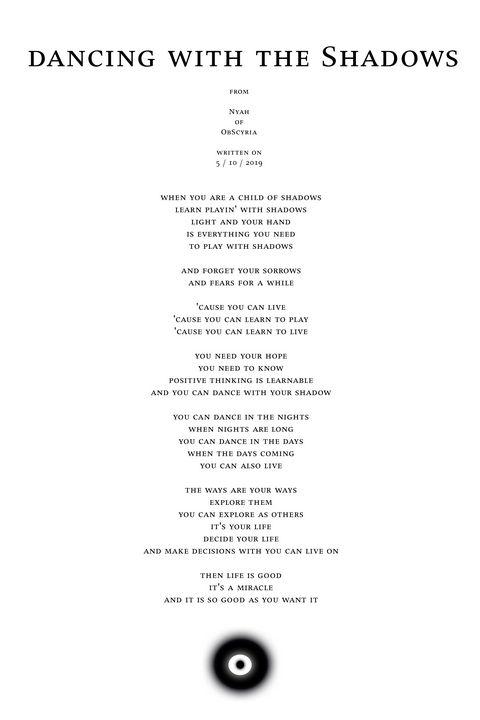 Nyah - poem - dancing with the Shado - Nyah