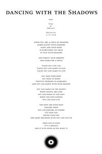 Nyah - poem - dancing with the Shado