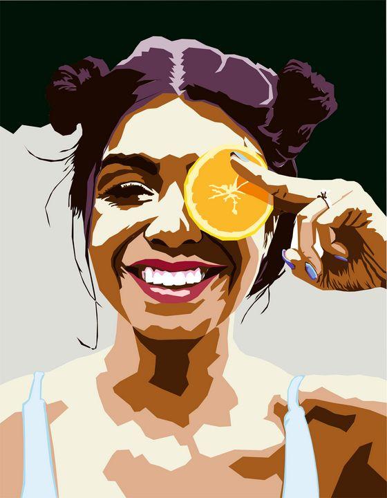 Girl with an orange - Larisa