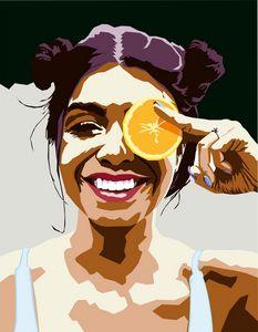 Girl with an orange