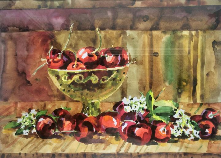 Still life with cherries - Larisa