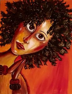 """AFRICAN WOMAN ARTWORK """