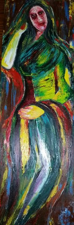 """one woman - Archana Santra""""s painting"""