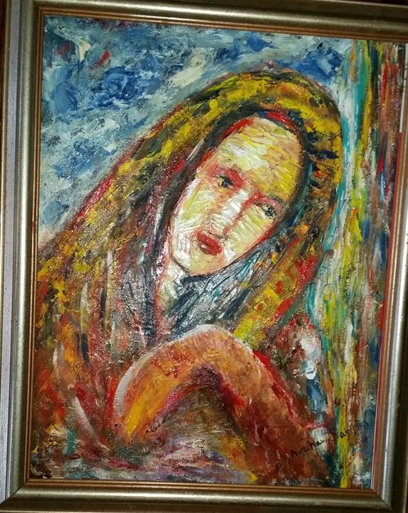 """mother - Archana Santra""""s painting"""