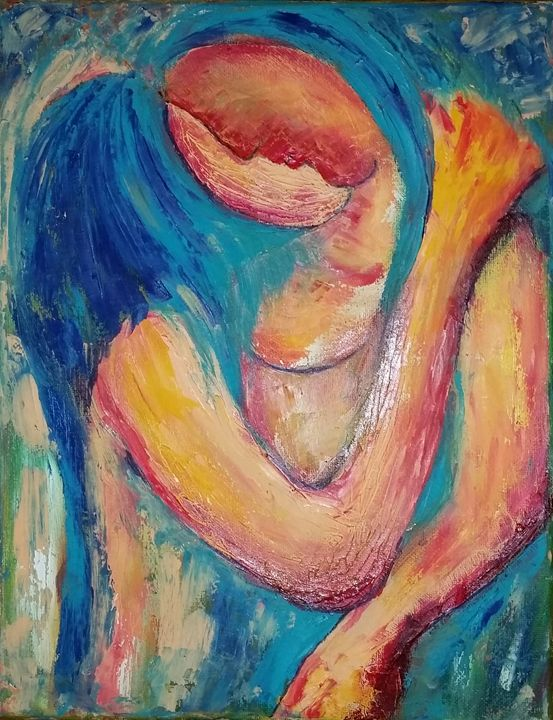 "lover - Archana Santra""s painting"