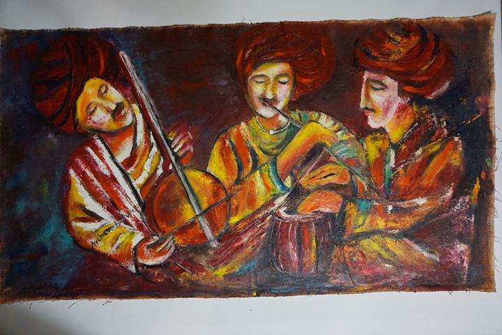 "Indian Musicion - Archana Santra""s painting"