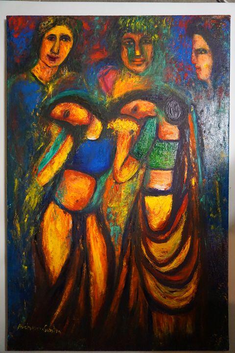 "holy festival - Archana Santra""s painting"