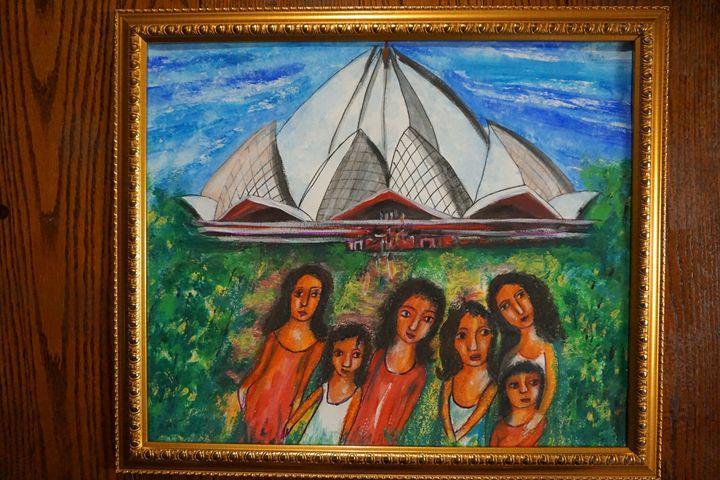 "lotus temple - Archana Santra""s painting"