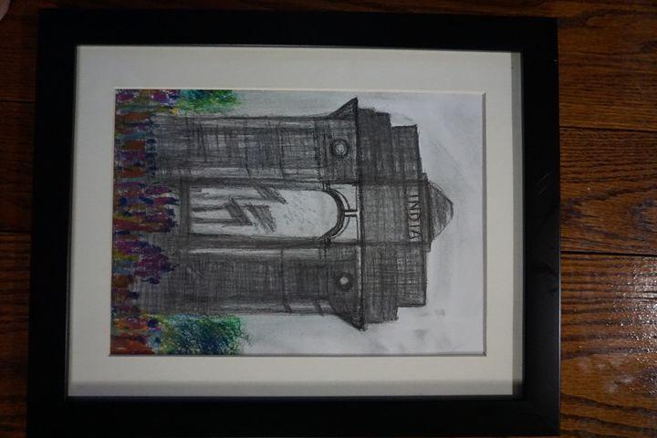 "India gate - Archana Santra""s painting"