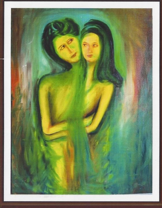 "two frinds - Archana Santra""s painting"