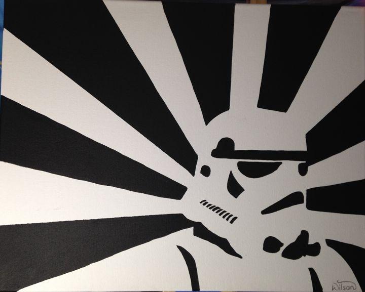 Star Wars Stormtrooper - Paintings by Alexandra
