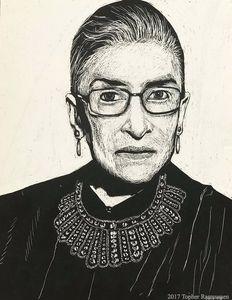 Ruth Bader Ginsberg Scratchboard
