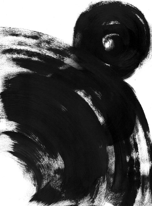 Black white abstraction 015 - Anastasia Vasilyeva Art
