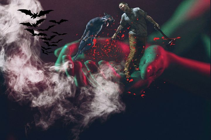 ZOMBIE NIGHT SPOOKY - MICHAEL ZHOU ART...