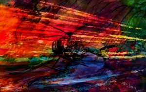 3D HELICOPTER ABSTRACT ART