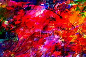 THE BURNING HOUSE ABSTRACT 3D ART
