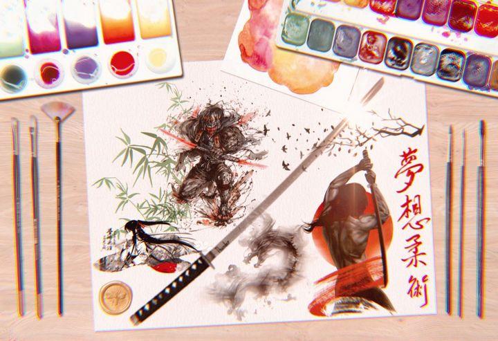 3D SHOGUN ART PRINTS - MODERN ART PRINTS SALE 3D ARTWORK 3D ART PICTURES