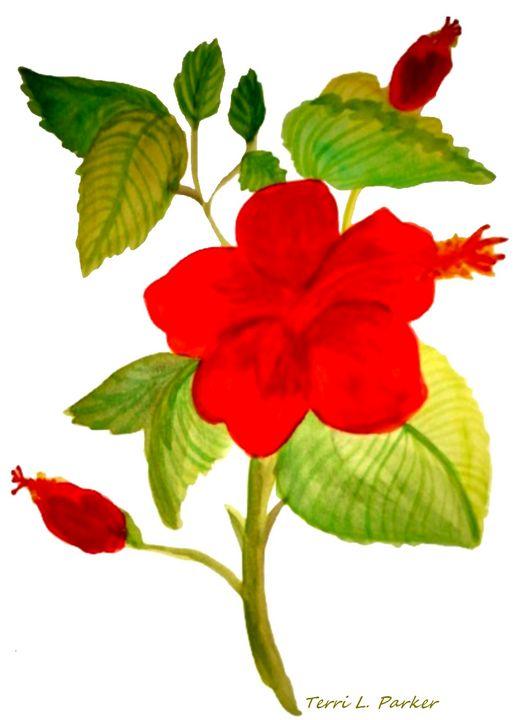 Red Flower 2 - Artgal Creations
