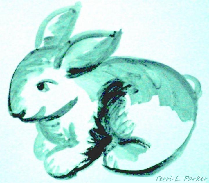 Blue Bunny - Artgal Creations