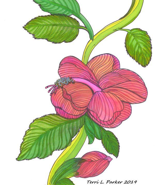 Pink Hibiscus 2 - Artgal Creations