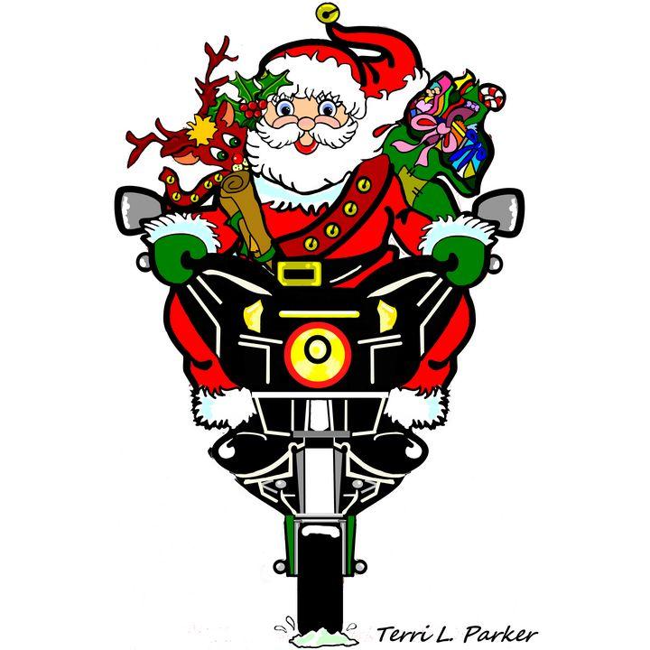 Santa Biker New - Artgal Creations