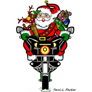 Santa Biker New