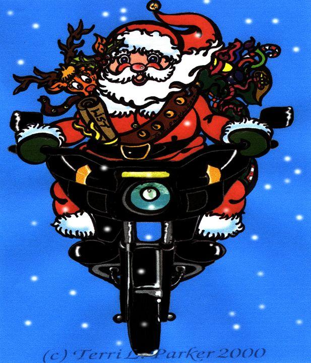 Santa Biker - Artgal Creations