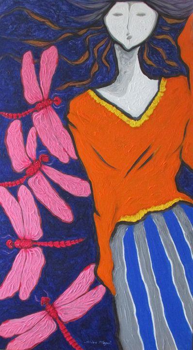 A GIRL AND DRAGONFLIES - SHIVAYOGI MOGALI