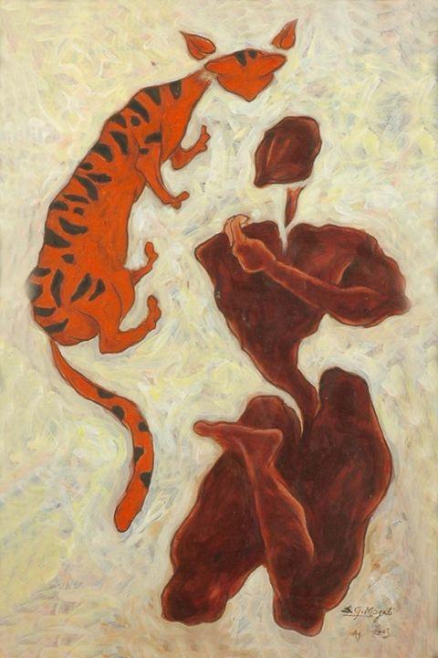 BROWN YOGI AND CAT - SHIVAYOGI MOGALI
