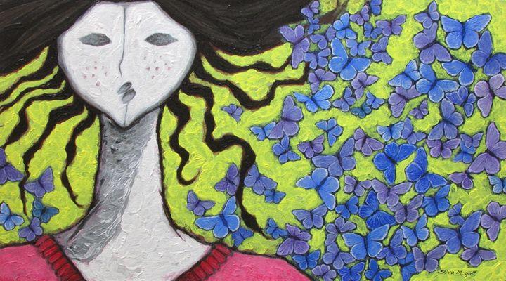 A GIRL AND BUTTERFLIES V - SHIVAYOGI MOGALI