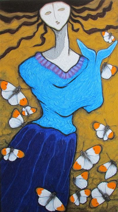 A GIRL AND BUTTERFLIES X - SHIVAYOGI MOGALI