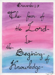Proverbs 1 : 7