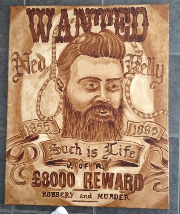 Ned Kelly - Painted in prison - Timothy wright