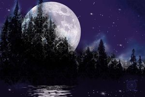 Moonrise Over Hidden Lake