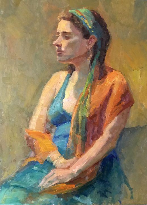 Gypsy Girl - Paintings