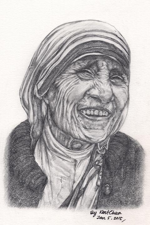 Mother Theresa Drawing - Kent Chua