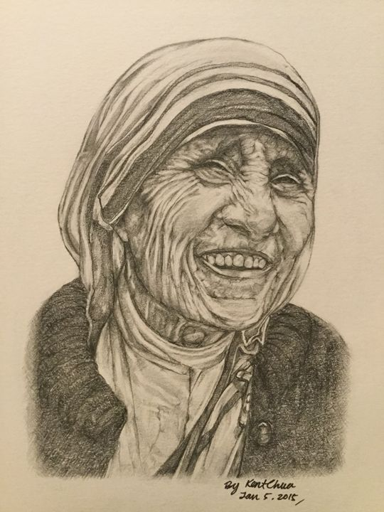 Mother Theresa Drawing - Kent Chua