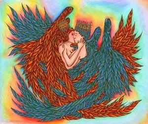 Rainbow Prince And Princess Angels
