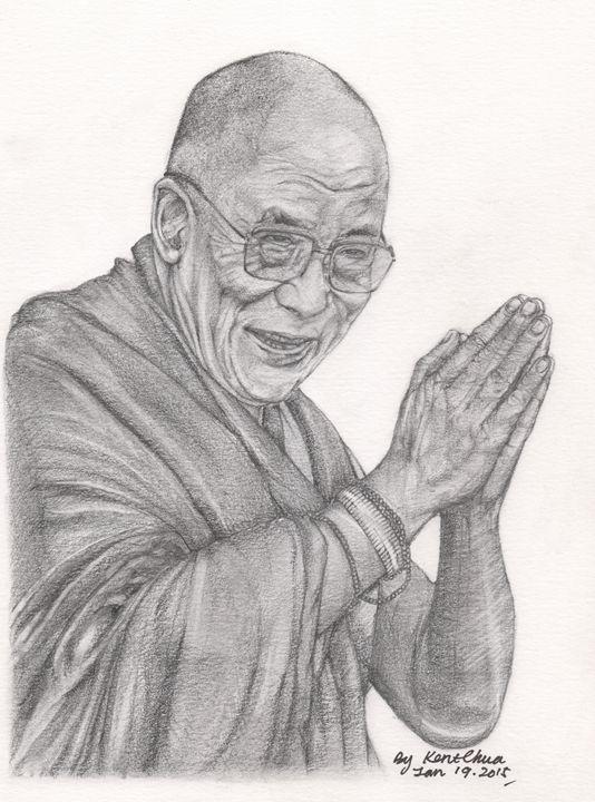 Dalai Lama Tenzin Gyatso - Kent Chua