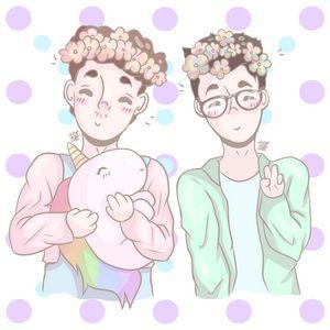 Dan And Phil Cute Pastel