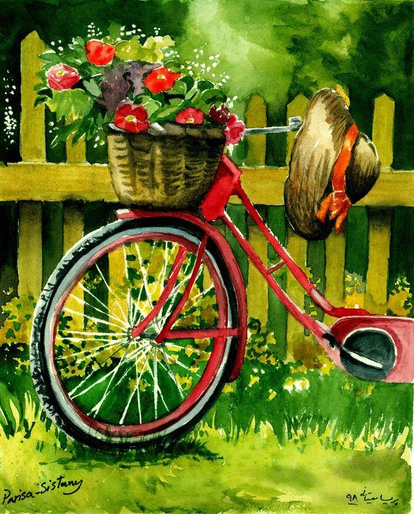 Bike With Flowers - Parisasis