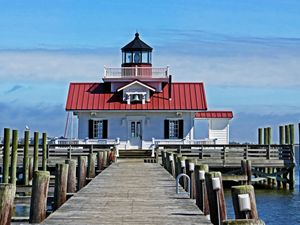 The Roanoke Marshes lighthouse