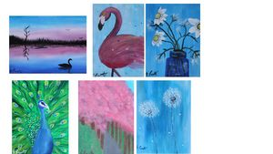 6 Greetings Cards + envelopes - A5