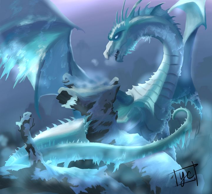 Ice Dragon - Yvonne Arts