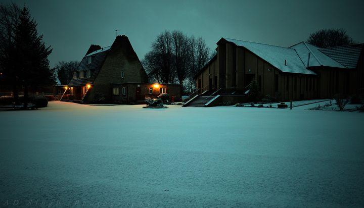 Church at night - AD SINGH
